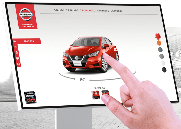 Interactive Touchscreen Nissan